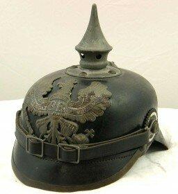 Немецкий рогатый шлем времён Первой Мировой